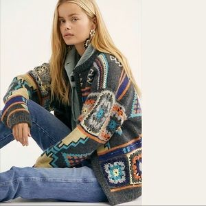 Free People Santa Rosa Cardi Cardigan Sweater NWT